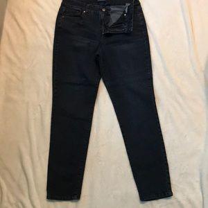 Bandolino Caroline slim navy blue jeans. Size 10.